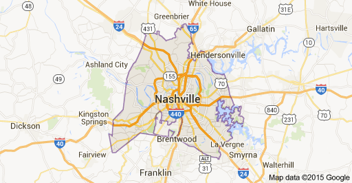 map of Nashville